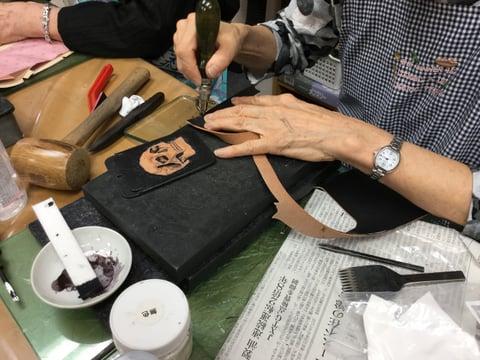 スカル レザークラフト教室 革工芸教室