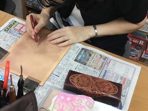 メガネボックス レザークラフト教室 革工芸教室