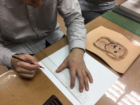 絵のサイズ レザークラフト教室 革工芸教室