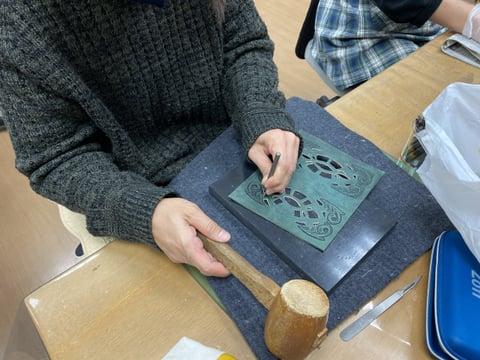 革のくりぬき レザークラフト教室 革工芸教室