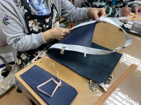 バッグ構想中 レザークラフト教室 革工芸教室