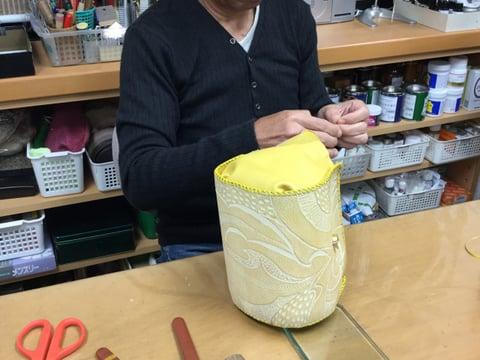 バッグかがり レザークラフト教室 革工芸教室