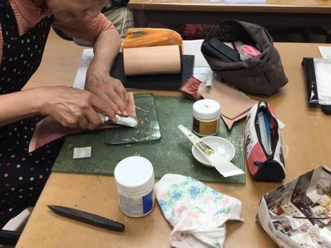 手漉き レザークラフト教室 革工芸教室