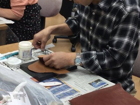ドル入れ作成 レザークラフト教室 革工芸教室