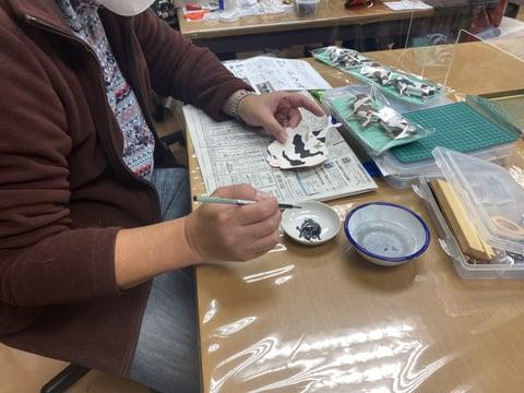 革の干支 レザークラフト教室 革工芸教室