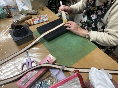 手紐づくり レザークラフト教室 革工芸教室