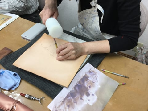 うりぼうカービング レザークラフト教室 革工芸教室