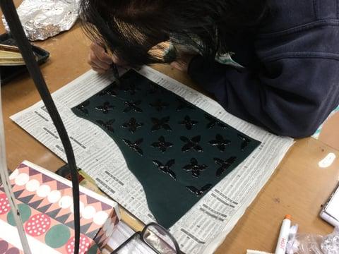 ろうけつ染めモデリング基礎 レザークラフト教室 革工芸教室