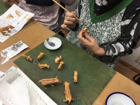 干支作り レザークラフト教室 革工芸教室