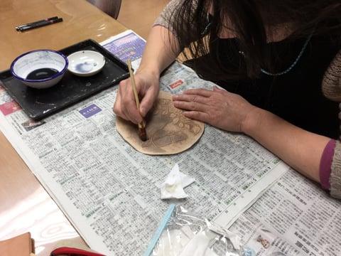 革の染色2 レザークラフト教室 革工芸教室