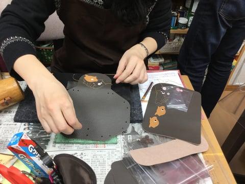 干支のペンケース レザークラフ 教室 革工芸教室