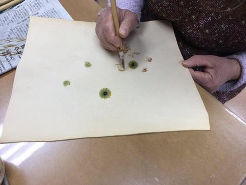 ろうけつ染 蝋かすり レザークラフト教室 革工芸教室