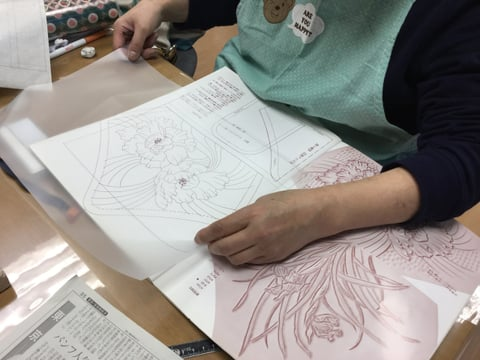 ろうけつ染 図案 レザークラフト教室 革工芸教室