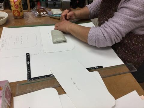 型紙写し レザークラフト教室 革工芸教室