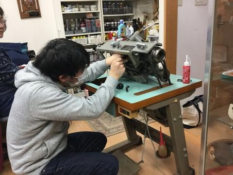 革漉き機講習会 レザークラフト教室 革工芸教室
