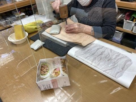 デザインカービング レザークラフト教室 革工芸教室