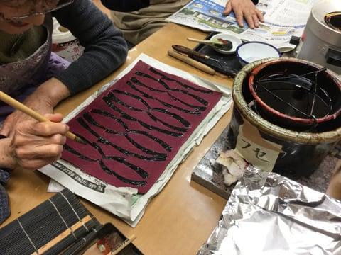 伏せ蝋 レザークラフト教室 革工芸教室