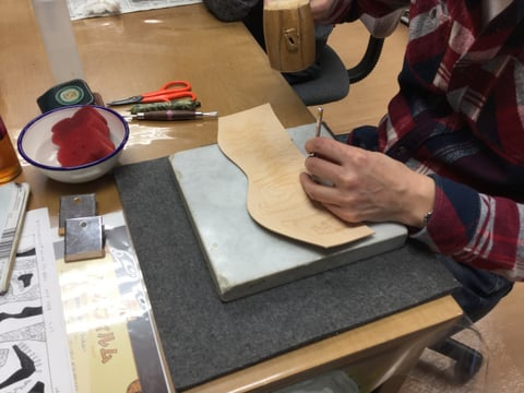 ペンたて レザークラフト教室 革工芸教室