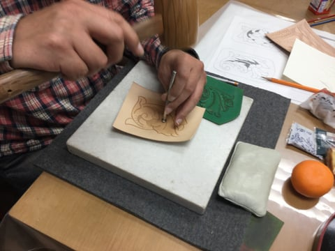 初めてのカービング レザークラフト教室 革工芸教室