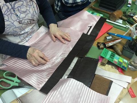 バッグ仕立て内袋作り レザークラフト教室 革工芸教室