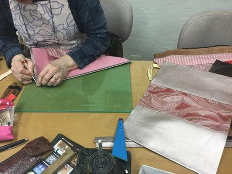 ショッピングバッグ レザークラフト教室 革工芸教室