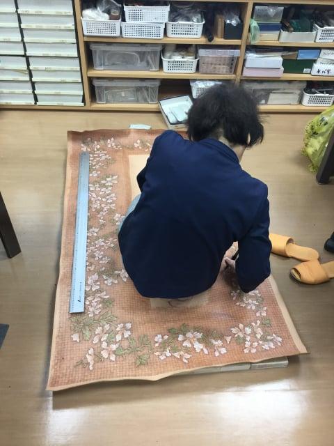 鏡バーニング革裁断 レザークラフト教室 革工芸教室