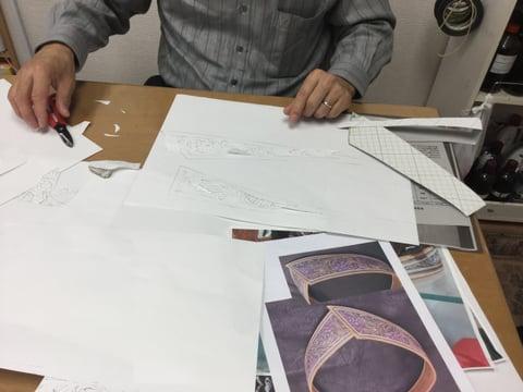 ベルトの図案作り レザークラフト教室 革工芸教室