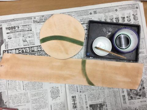 染色開始 レザークラフト教室 革工芸教室
