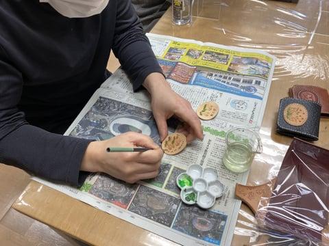 体験受講作品 レザークラフト教室 革工芸教室