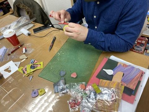 マーブリングアクセサリー レザークラフト教室 革工芸教室