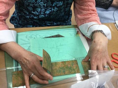 ティッシュボックス造形 レザークラフト教室 革工芸教室