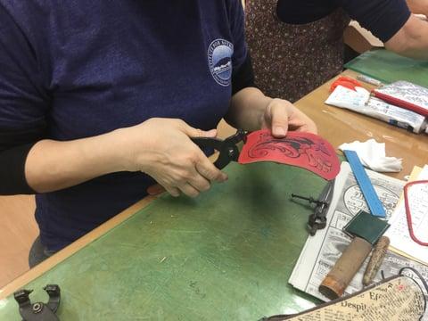 キーケース仕立て レザークラフト教室 革工芸教室
