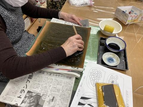 バッグの染色 レザークラフト教室 革工芸教室