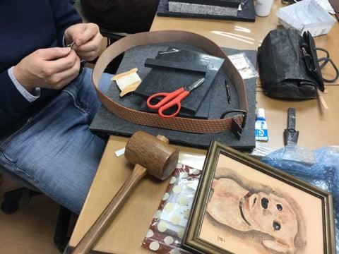 ベルト レザークラフト教室 革工芸教室