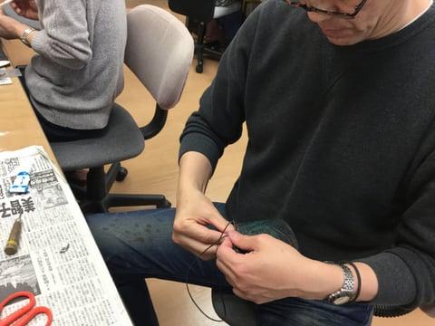 ペンたて仕立て レザークラフト教室 革工芸教室