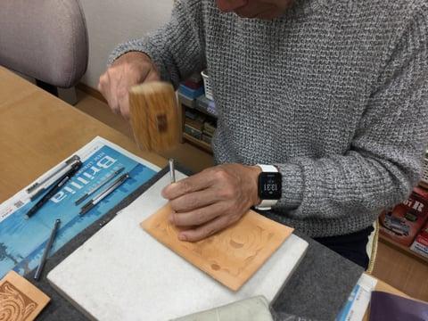 名刺入れ レザークラフト教室 革工芸教室