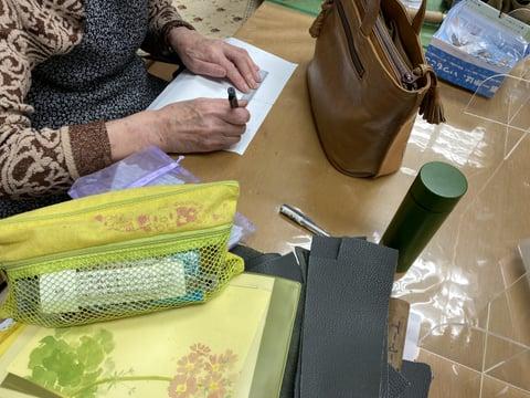 ポシェとの型紙 レザークラフト教室 革工芸教室
