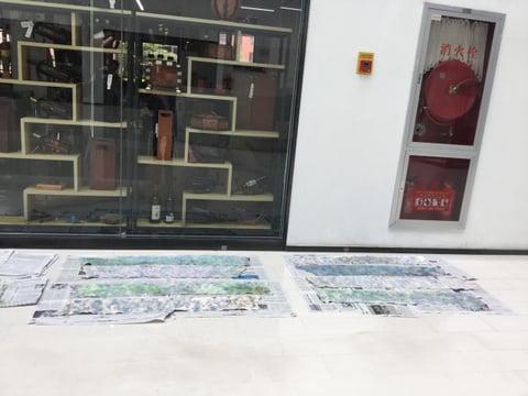 立体造形講習会 乾燥中 レザークラフト 教室 革工芸教室