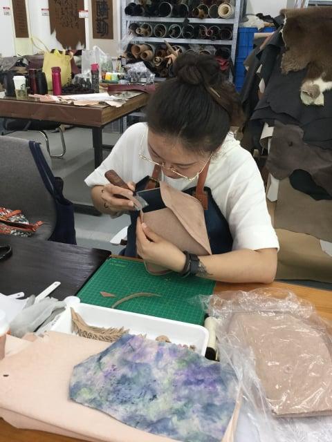 立体造形2日目 レザークラフト教室 革工芸教室