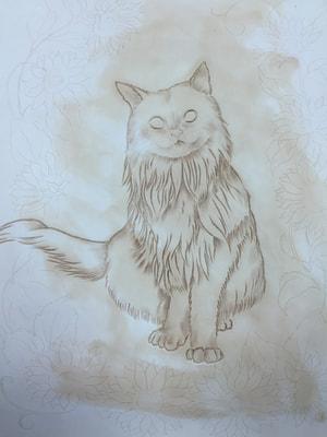 レザークラフト フギャーカービング 猫