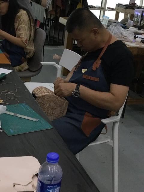 つなぎ目のない立体造形講習会4日目 レザークラフト教室 革工芸教室