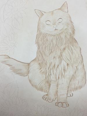 レザークラフト フィギャアカービング 猫