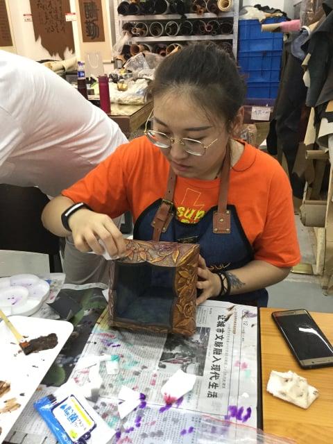 つなぎ目のわからない立体造形 Workshop5日目 レザークラフト教室 革工芸教室