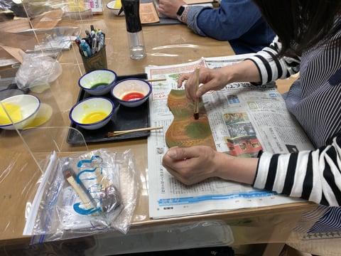 ペン立て染色 レザークラフト教室 革工芸教室