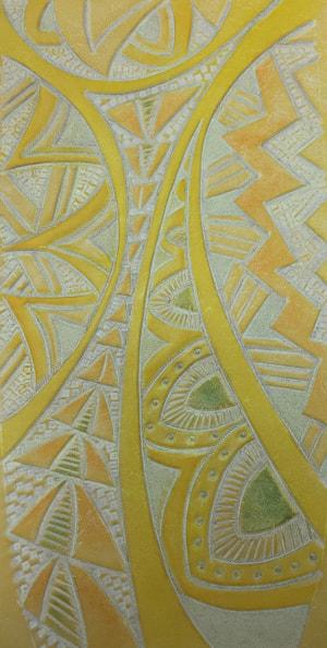 レザークラフト カービング黄色