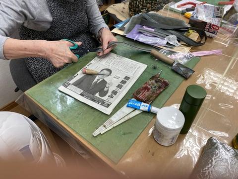 手紐作り レザークラフト教室 革工芸教室