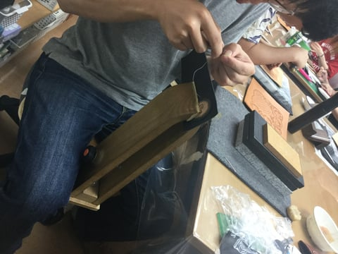 コインボックス 手縫い レザークラフト教室 革工芸教室