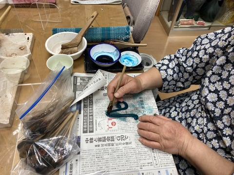 ト音記号染色 レザークラフト教室 革工芸教室