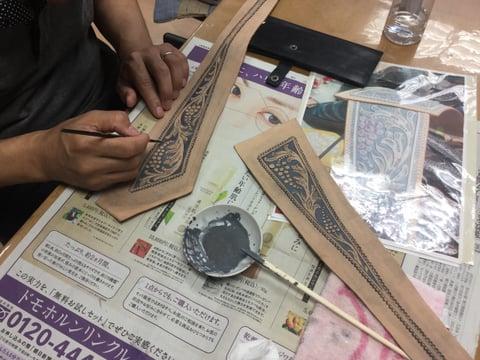 ベルト レザークラフ 教室 革工芸教室