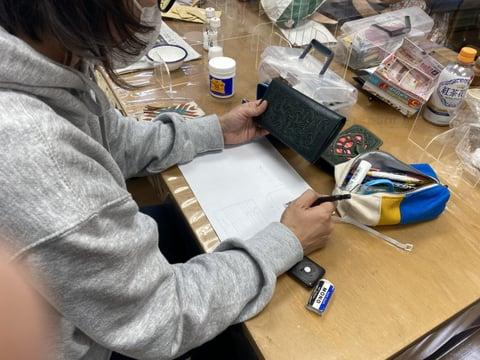 札入れ レザークラフト教室 革工芸教室